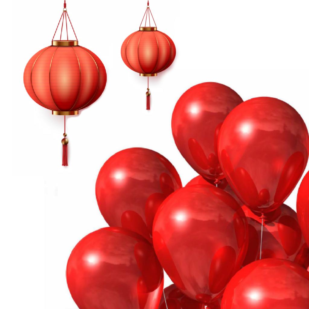Lunar New Year Balloon Wall